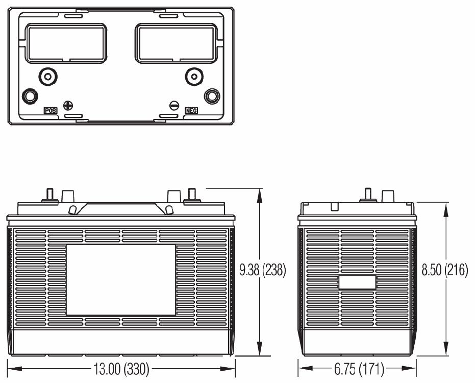 Чертеж тяговой батареи 31H